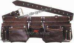 11, Pocket Leather Oil Tanned Leather tool Belt