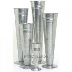 GALVANIZED VASES PLANTER