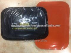 Tyre repair patch orange color poly