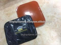 Universal tire repair patch with orange color poly