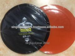 Bias tire repair patches WITH ORANGE COLOR POLY