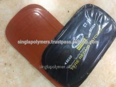 Valcanizing tire repair rubber patch with orange