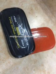 Motorcycle tire patch with orange color poly