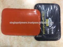 Tire rubber patch with orange color poly