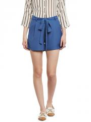 Blue Moss Crepe Shorts