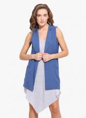 Blue Crepe Jacket