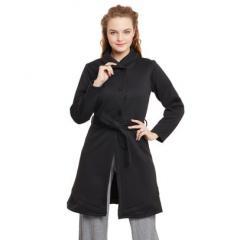 Black Pc Fleece Overcoat