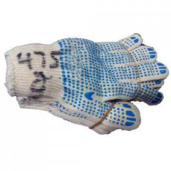Poly Cotton Dotted Gloves