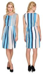 Sleeveless Boat Neck Dress