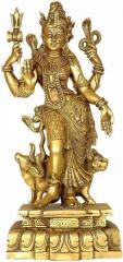 Purpledip Ardhanarishwar Half Shiva Half Parvati Solid Pure Brass Statue