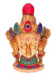 Brass metal Buddhist Goddess Tara Mask,Wall Hanging
