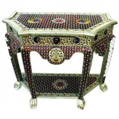 "Meenakari teak wood console "" Royal touch"""