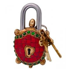 Tortoise Turtle Shaped Brass Lock Padlock