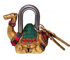 Camel Shaped Brass Padlock