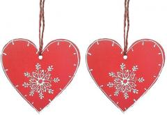Wooden Christmas decoration,  Set of 2,  4...