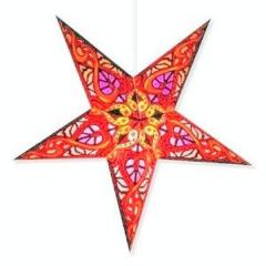 Christmas Star Decoration, (24*24*4 inches,Red)