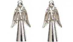 Nickel Plated Metal bells set of 2(4 inches)