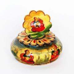 Handpainted Wooden Ashtray