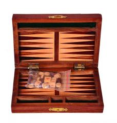 Backgammon Set: Handmade from Rosewood