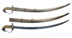Gold work & camel bone Decorative Sword