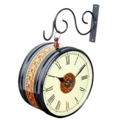Railway Station Platform Vintage Double sided Clock for living room 6*6 inch dial