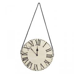 Hanging Wall Clock for contemporary rustic decor 11X11 inch