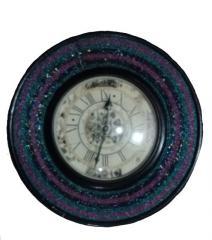 Purple Black Wall Clock