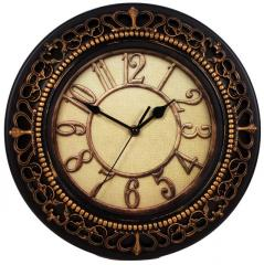 Wall Clock in Antique Metal Finish and...