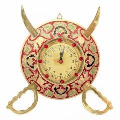 Dhal Talwar Wall clock, Indian gift ideas