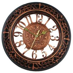 Wall clock with metallic numbers 16 inch (10121)