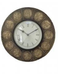 Zodiac Signs Wooden Wall Clock ,12