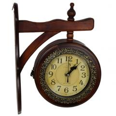 Royal Vintage Double sided hanging Station wall clock (clock93)