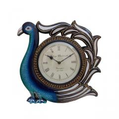 Peacock wall clock for living room 12X12 inch (clock91c)