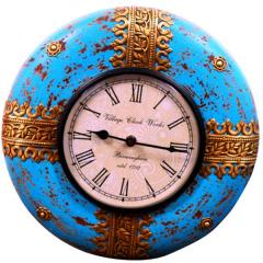 Handpainted Vintage wall clock for living room 12X12 inch (clock90e)