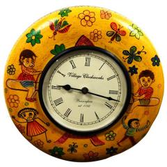 Andpainted Vintage wall clock for living room 12X12 inch (clock89)