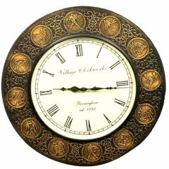 Zodiac Signs Wall Clock (Round,Gold) clock82