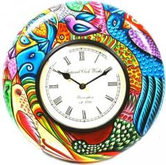 Analog Wall Clock (Multicolor, With Glass)