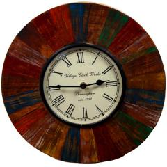 Reclaimed wood distress finish clock (12x12 Inches) clock81