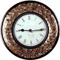 Glass Mosaic Analog Wooden Wall Clock (clock77)