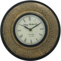 Brass sheet covered Analog Wall Clock clock30e