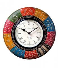 Andpainted Colorful Wall Clock for living room