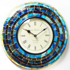 Blue glistening clock clock66