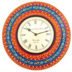 3 layered cone artwork wooden clock clock01