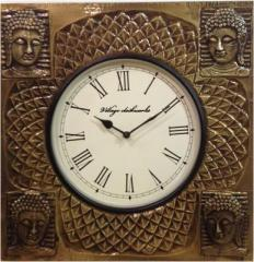 Antique Analog Wall Clock(Brown)
