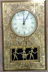 Brass clock with dokra work clockdokra