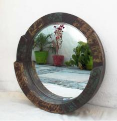 Round (Heavy) Mirror frame - Reclaimed Wood