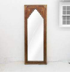 Brass- Natural Polish Mehrab Mirror Frame
