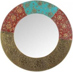 Reclaimed Wood Distress finish Mirror (Round)