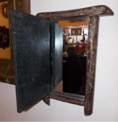 Chipped Village Window - Hide Mirror Inside