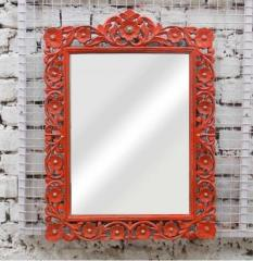 Floral/Painted Mirror Frame
